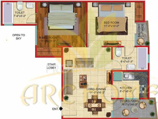 850 sq ft 2 bhk 2t apartment for sale in arc home sector for 850 sq ft house plans