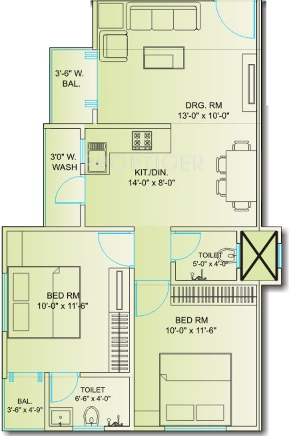 950 sq ft 2 bhk 2t apartment for sale in avaneesh shree for 950 sq ft