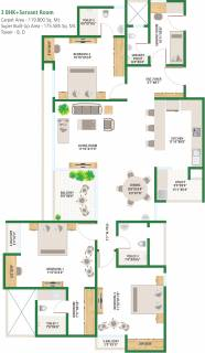 1890 Sq Ft 3 Bhk Floor Plan Image Alembic Urban Forest Available Rs 5 690 Per Sqft For Sale Rs In 1 14 Crore Proptiger Com
