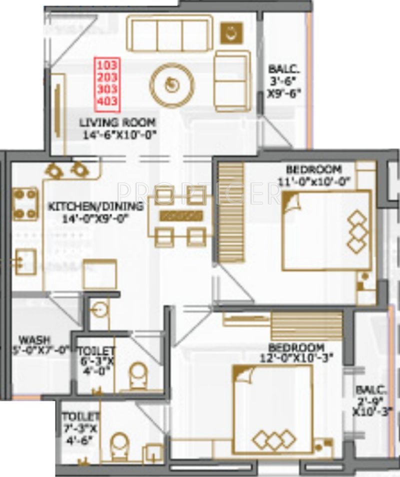 1100 sq ft 2 bhk 2t apartment for sale in jb developers for 1100 sq ft apartment floor plan