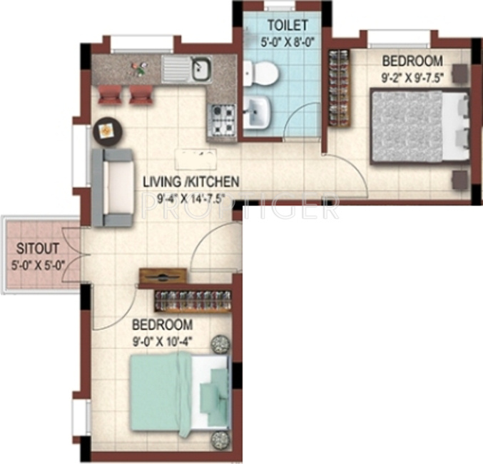 559 Sq Ft 2 Bhk 1t Apartment For Sale In Casa Grande The