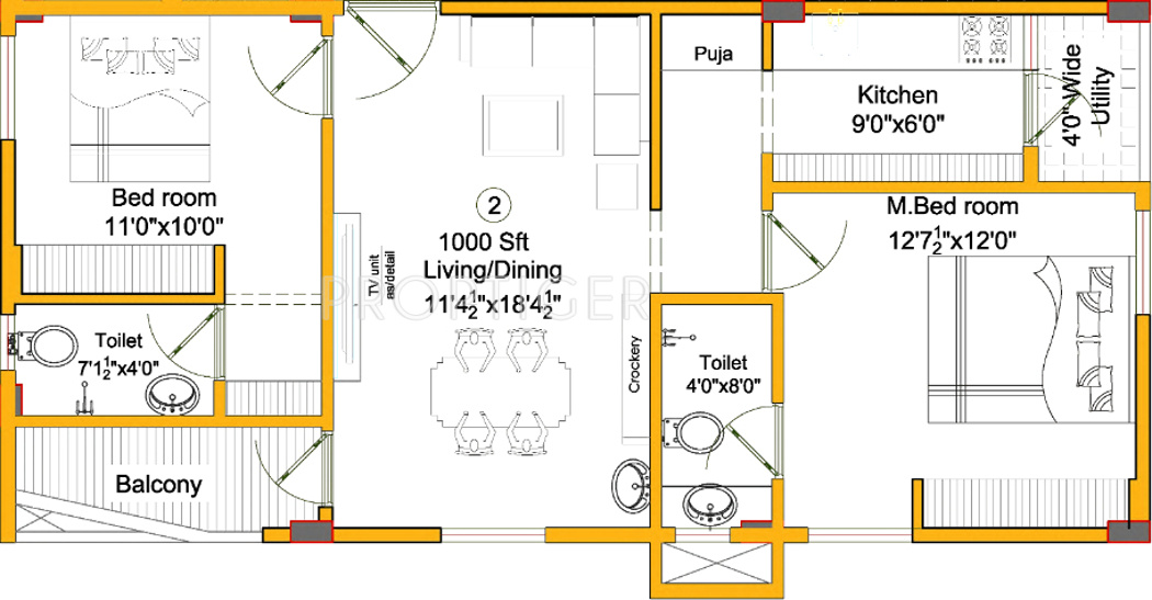 1000 sq ft 2 bhk 2t apartment for sale in vaishno vasudha for 1000 sq ft 2bhk house plans