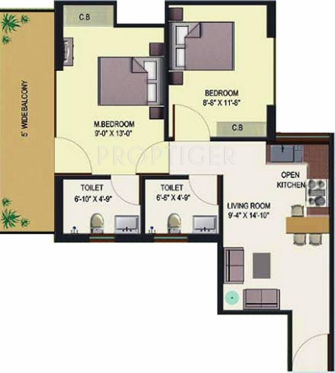 675 sq ft 2 bhk 2t apartment for sale in hcbs sports ville for 675 sq ft floor plan