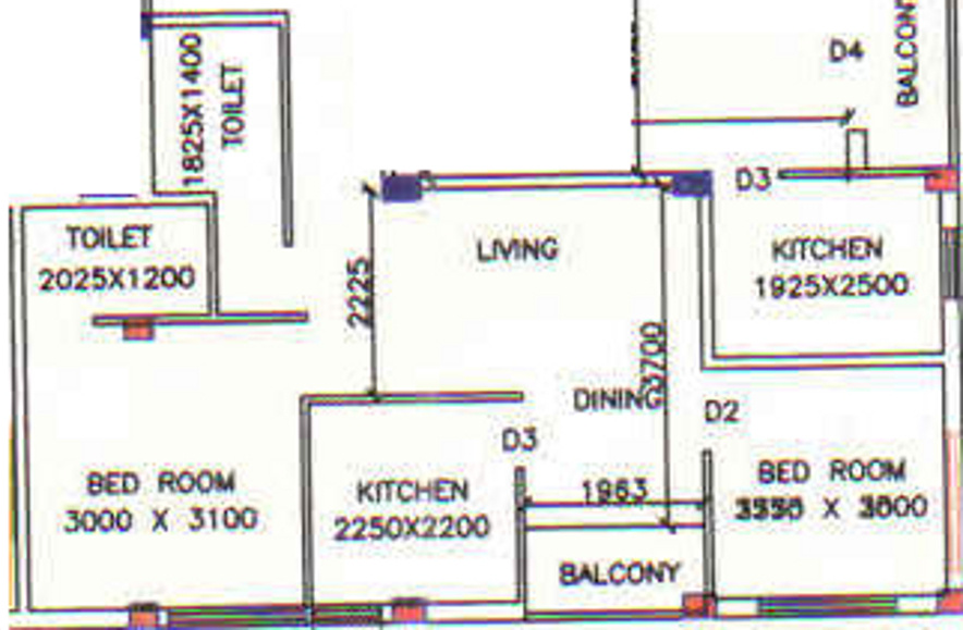 1125 sq ft 2 bhk 2t apartment for sale in salute for 1125 sq ft floor plan