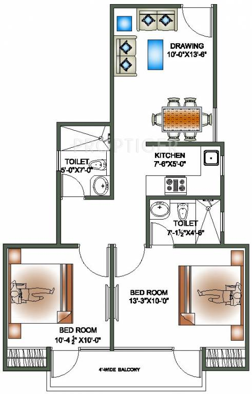 890 sq ft 2 bhk 2t apartment for sale in realtyvision 4th for 110 square feet room
