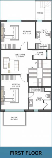 2250 sq ft 4 bhk floor plan image aarcity star villas for 12 by 12 room sq ft
