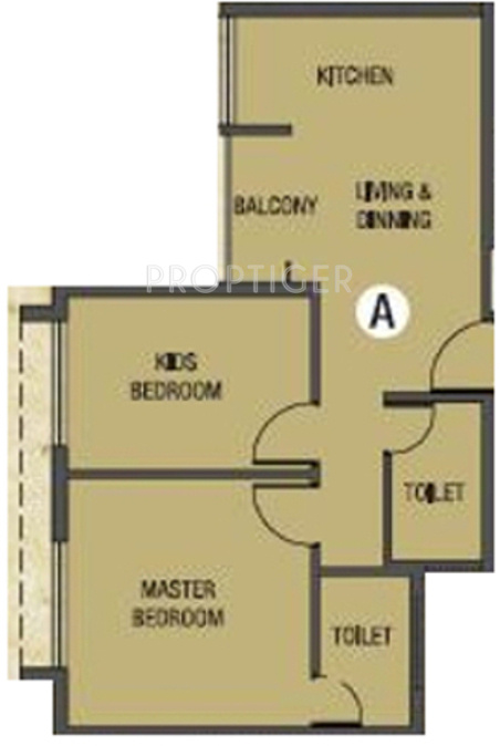 Four ace orchard aceville in new town kolkata price for 675 sq ft floor plan