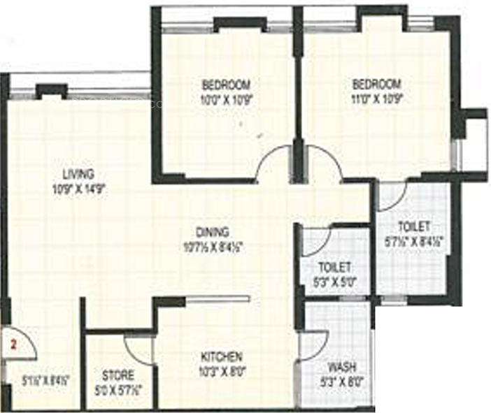 1100 sq ft 2 bhk 2t apartment for sale in aagam heights for 1100 sq ft apartment floor plan