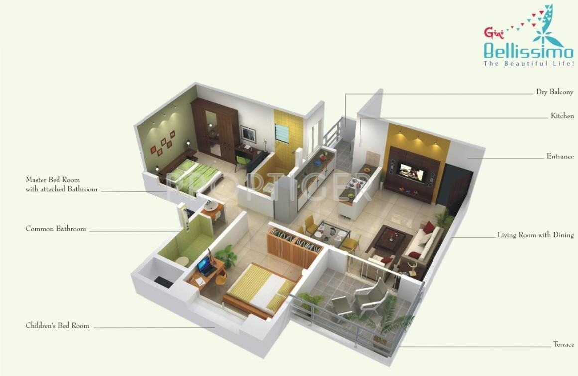 Gini bellissimo in dhanori pune price location map for Cost of building a 700 square foot house
