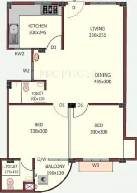 Jewel Nexus (2BHK+2T (790 sq ft) 790 sq ft)