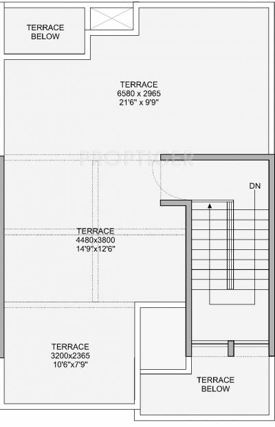 Nagpal Meadows Uptown Row Houses Floor Plan (3BHK+3T (1,460 sq ft) 1460 sq ft)
