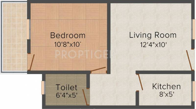 450 sq ft 1 bhk floor plan image shri prabhakar for 450 square foot apartment floor plan