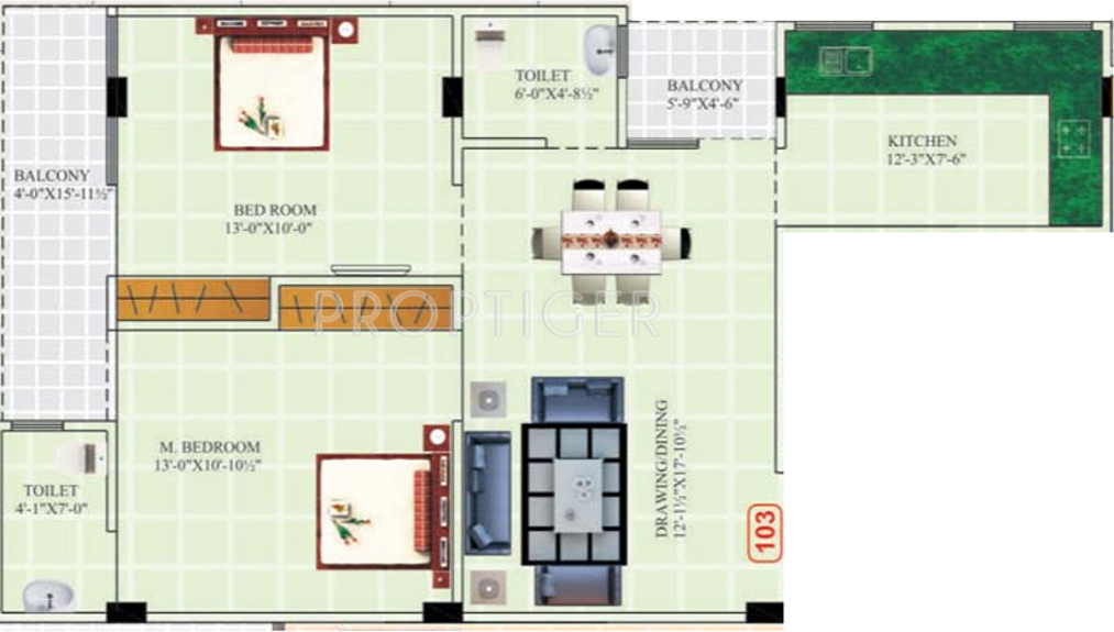 1025 sq ft 2 bhk 2t apartment for sale in balaji dham for X2 residency floor plan