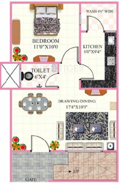 Rai Homes Universal Pink City (1BHK+1T (480 sq ft) 480 sq ft)