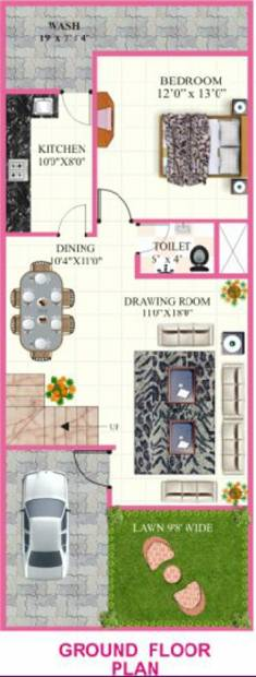 Rai Homes Universal Pink City (3BHK+3T (1,560 sq ft) 1560 sq ft)