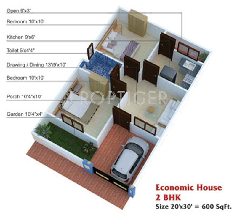 600 sq ft house plans 2 bedroom indian style escortsea for Double bedroom independent house plans