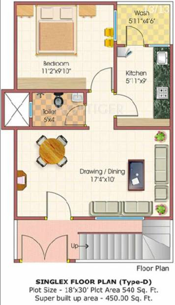 450 sq ft 1 bhk floor plan image rai homes universal for 450 sq ft floor plan