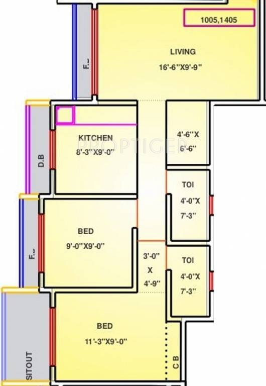 1100 sq ft 2 bhk 2t apartments in reliable homemakers for 1100 sq ft apartment floor plan
