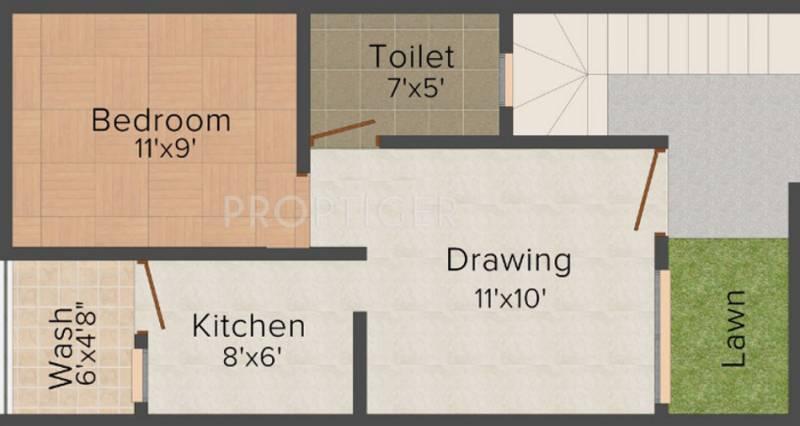 450 sq ft 1 bhk floor plan image shri prabhakar for 450 sq ft floor plan