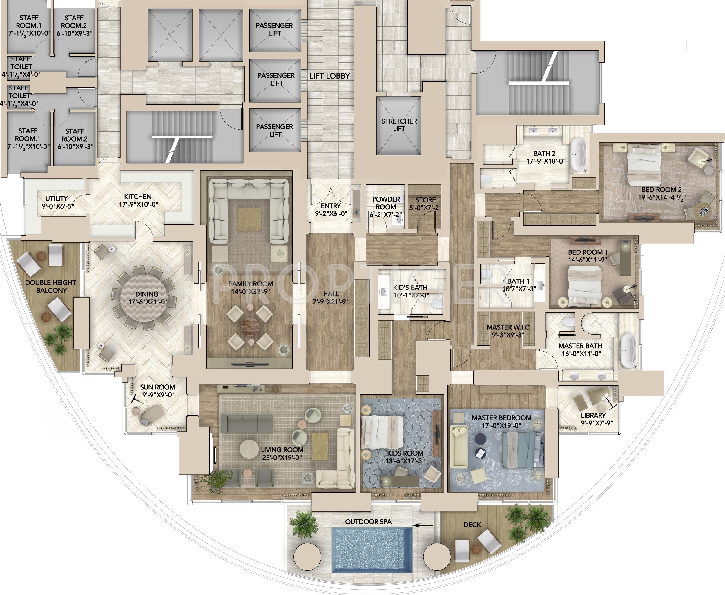 Bedroom Interior Elevation