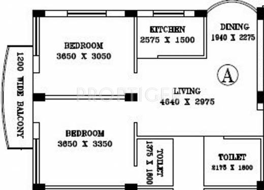 925 Sq Ft 2 Bhk 2t Apartment For Sale In Nabaudyog Srijani