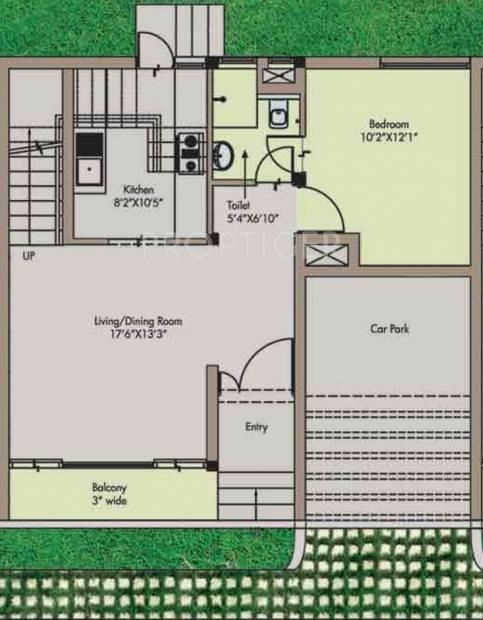 Adventz Zuari Garden City Villa (3BHK+3T (1,850 sq ft) 1850 sq ft)