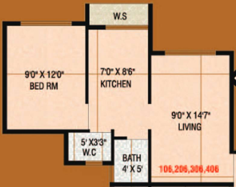 Signature Desire (1BHK+1T (565 sq ft) 565 sq ft)