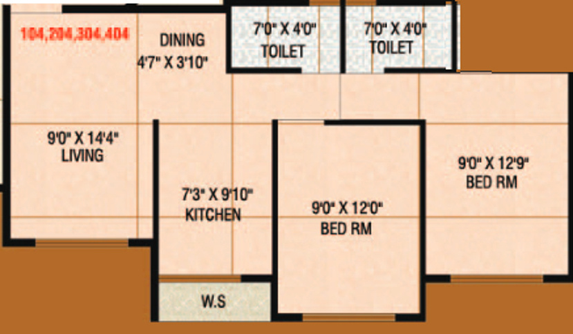 840 sq ft 2 bhk 2t apartment for sale in signature desire for 840 square feet