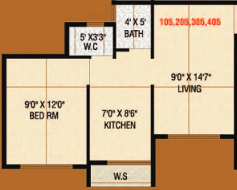 Signature Desire (1BHK+1T (461 sq ft) 461 sq ft)