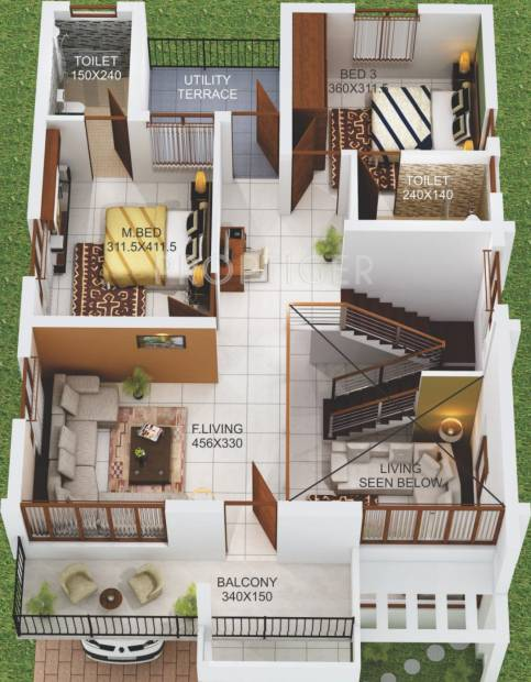 Afford Dream Cocoon (3BHK+4T (1,905 sq ft) 1905 sq ft)