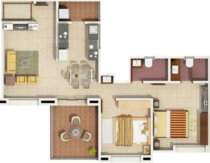1192 Sq Ft 2 Bhk 2t Apartment For Sale In Rachana