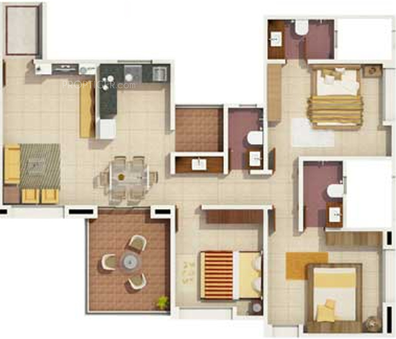 1530 Sq Ft 3 Bhk 3t Apartment For Sale In Rachana