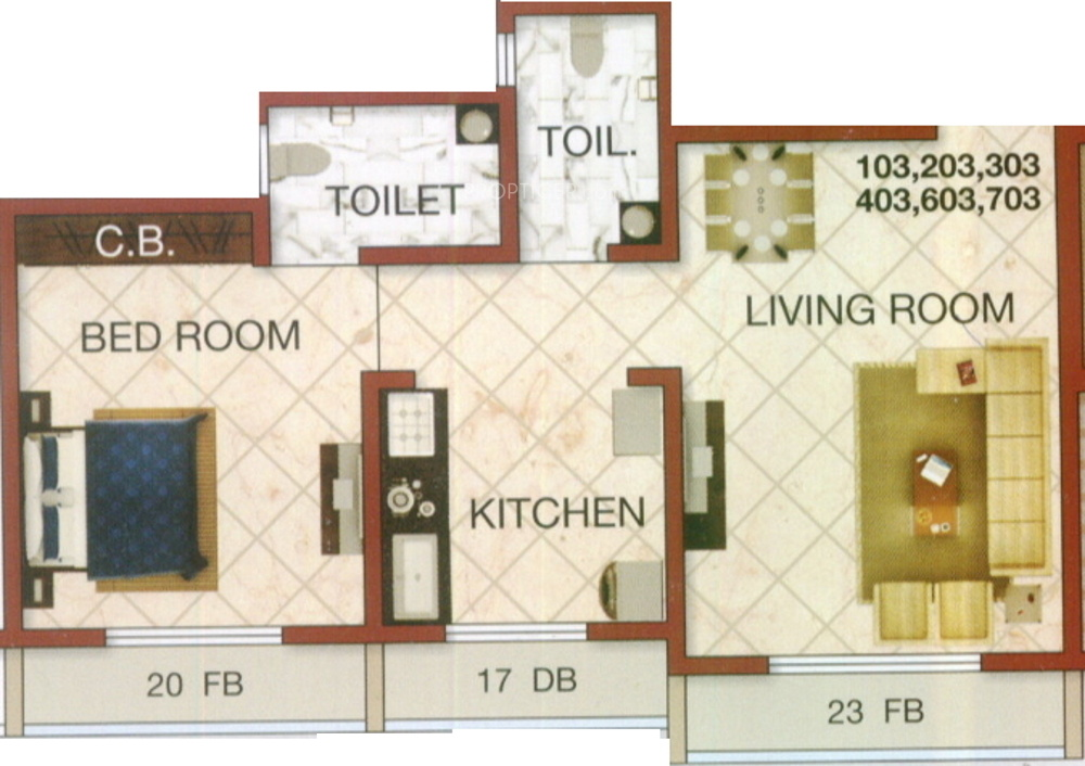 675 sq ft 1 bhk 2t northwest facing resale apartment on for 675 sq ft floor plan