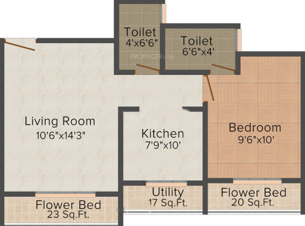 675 sq ft 1 bhk 2t apartment for sale in d lasa developers for 675 sq ft floor plan