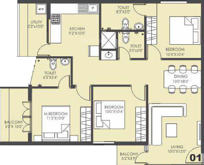 1280 sq ft 2 bhk 2t apartment for sale in k2 builders and for Floor plans for realtors