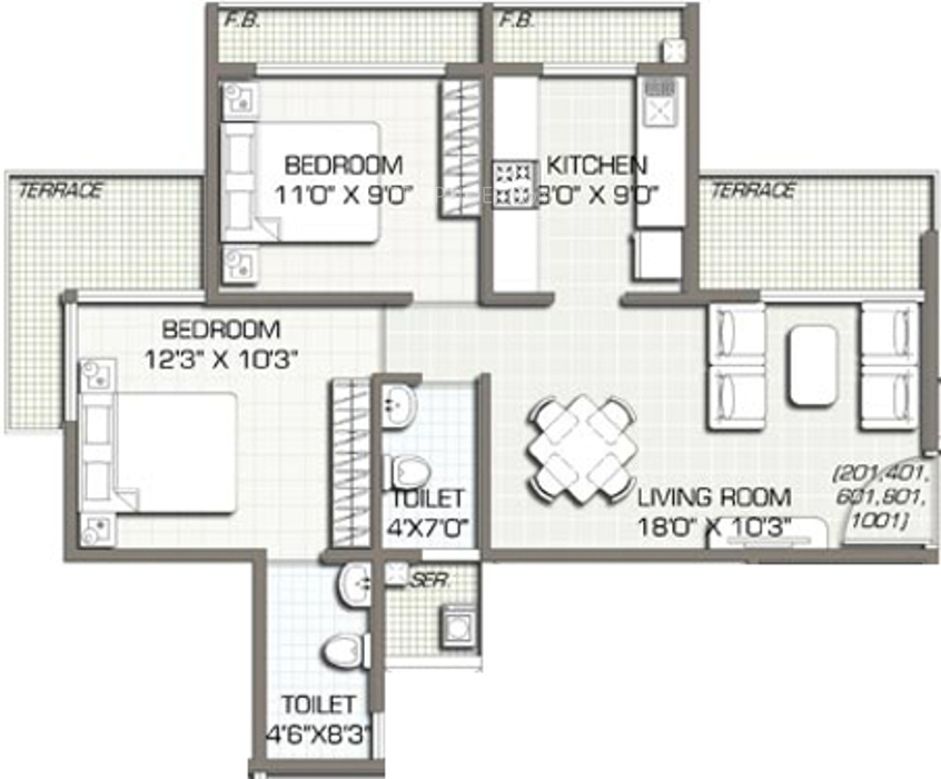 1100 sq ft 2 bhk 2t apartment for sale in space india for 1100 sq ft apartment floor plan