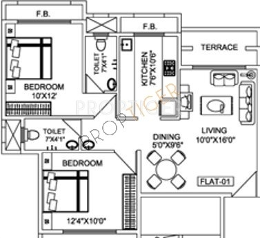 Tejas Heights (2BHK+2T (1,224 sq ft) 1224 sq ft)