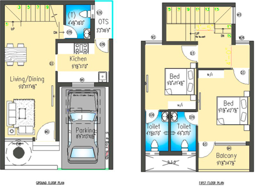 Row House Plans In 500 Sq Ft Home Design 2017