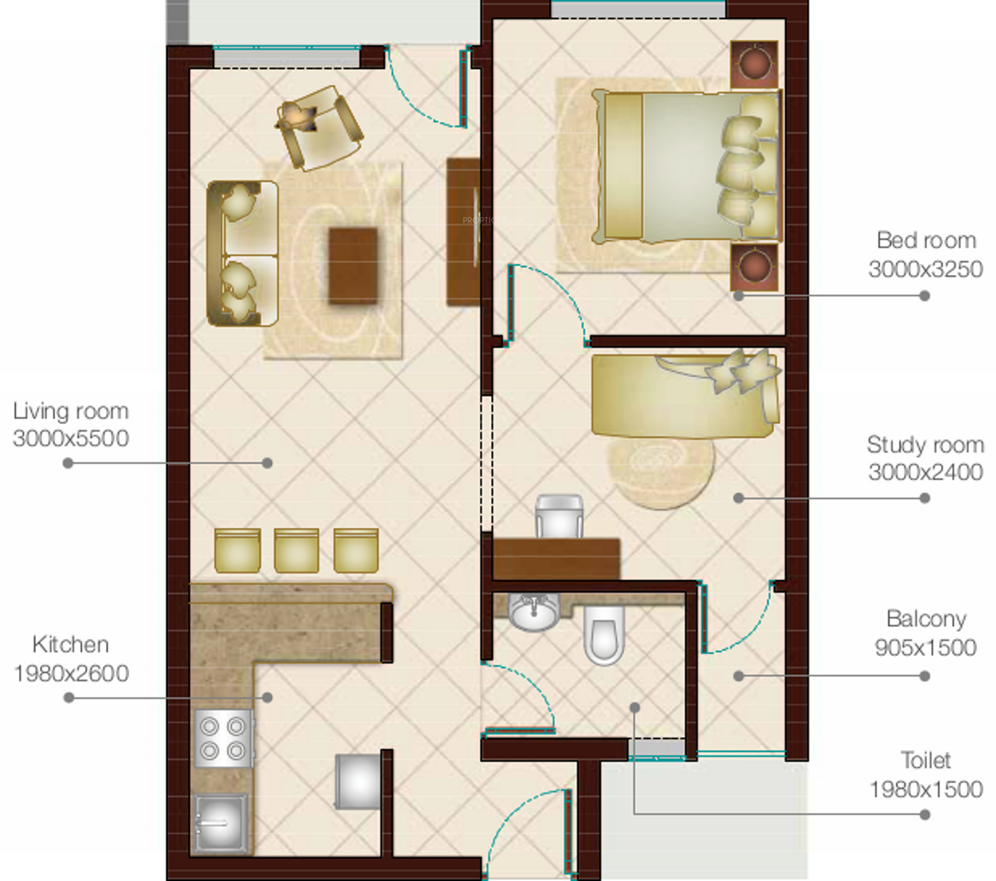 815 sq ft 1 bhk 1t apartment for sale in prominare homes for 12th floor apartments odessa