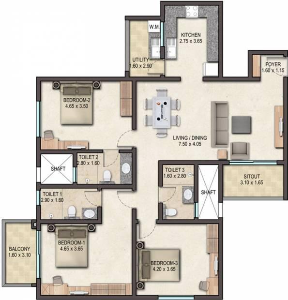 Sobha Avenue (3BHK+3T (1,574 sq ft) 1574 sq ft)