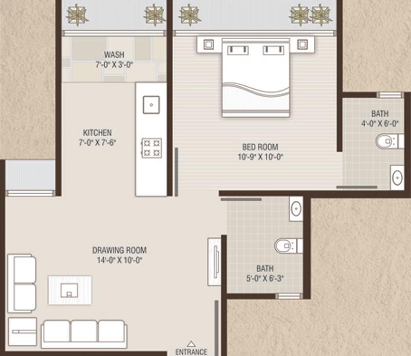 675 sq ft 1 bhk 2t apartment for sale in devnandan for 675 sq ft floor plan