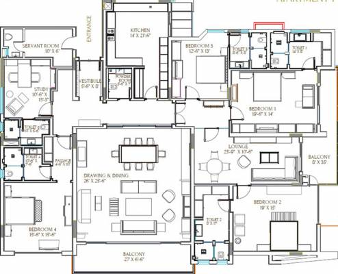 4500 sq ft 4 bhk 5t apartment for sale in aarone group for 4500 sq ft house plans
