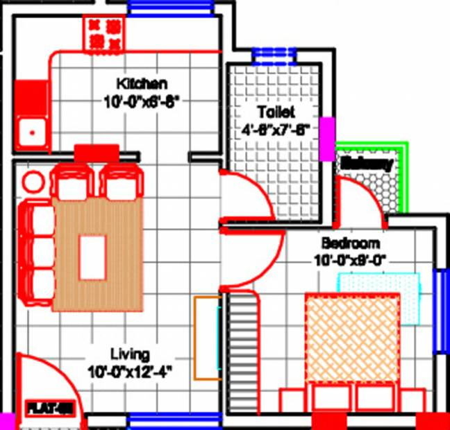 450 sq ft 1 bhk floor plan image victory properties for 450 sq ft floor plan