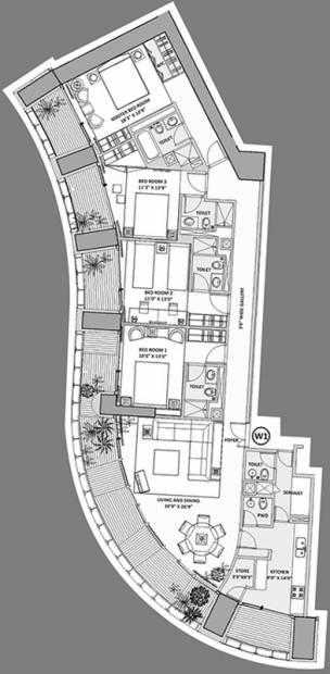 Lodha World Crest (4BHK+5T (3,825 sq ft) + Servant Room 3825 sq ft)