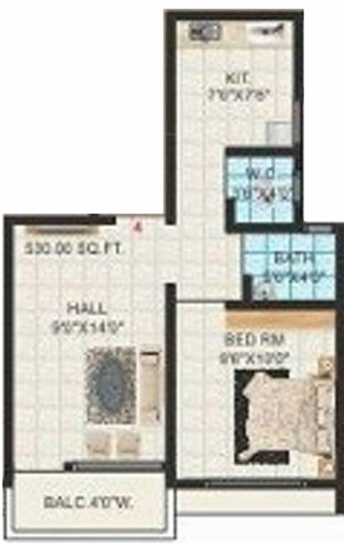 350 Sq Ft 1 Bhk 1t Apartment For Sale In Jai Malhar Anandi