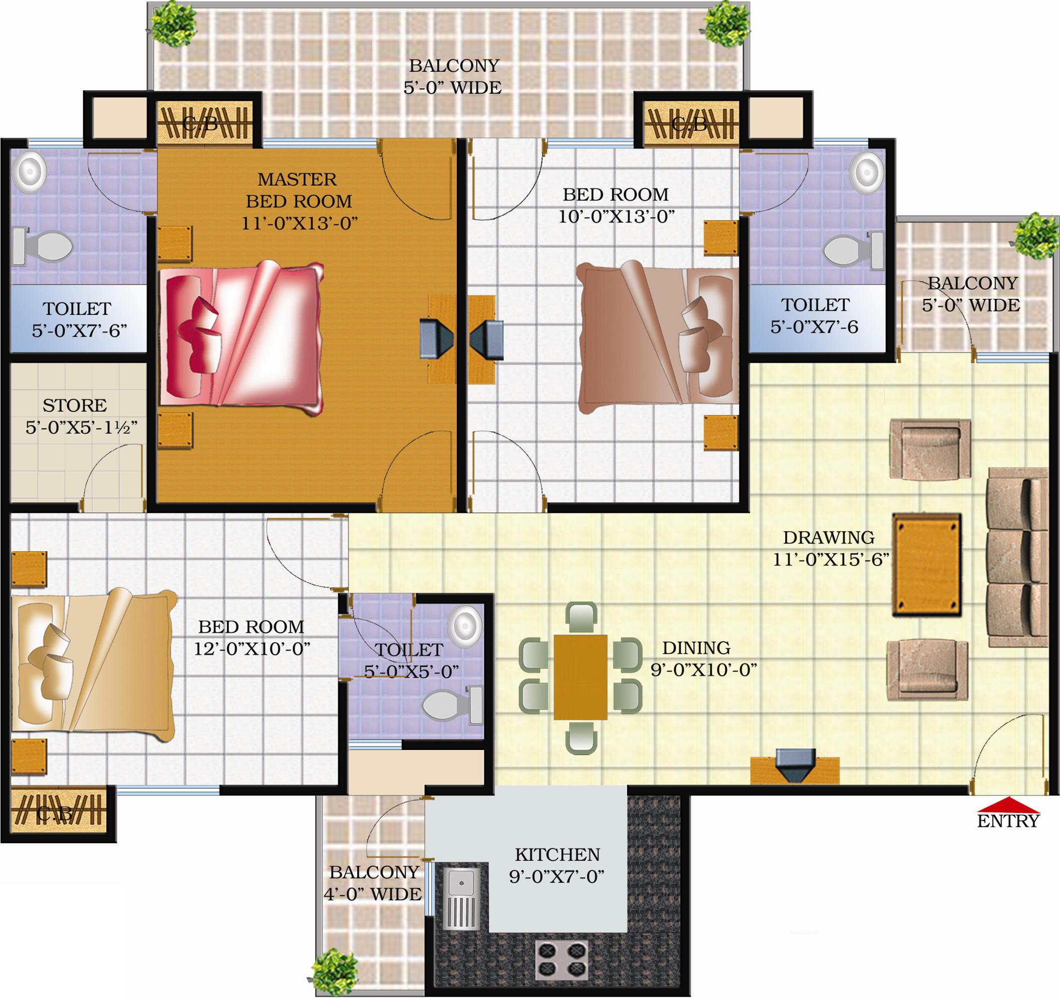 Techman moti residency phase ii in raj nagar extension for X2 residency floor plan