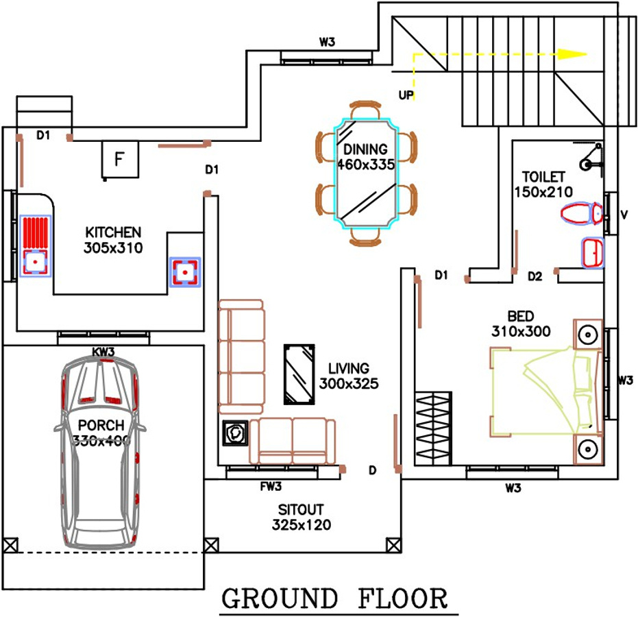 1265 sq ft 2 bhk 2t villa for sale in sophia builders for 1919 sophia floor plan