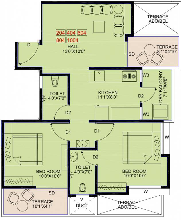 950 sq ft 2 bhk 2t apartment for sale in majestique for 950 sq ft