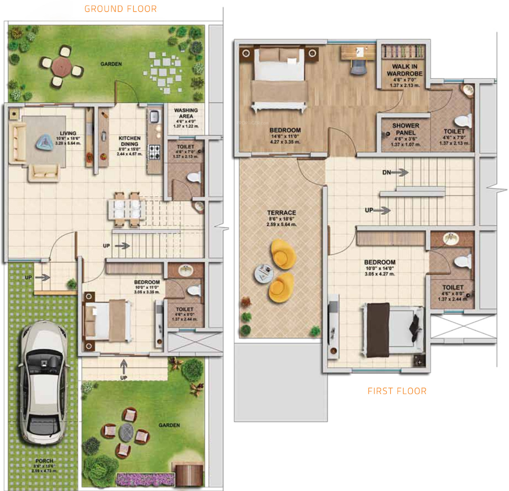 Kolte patil ivy villa in wagholi pune price location for Villa floor plans