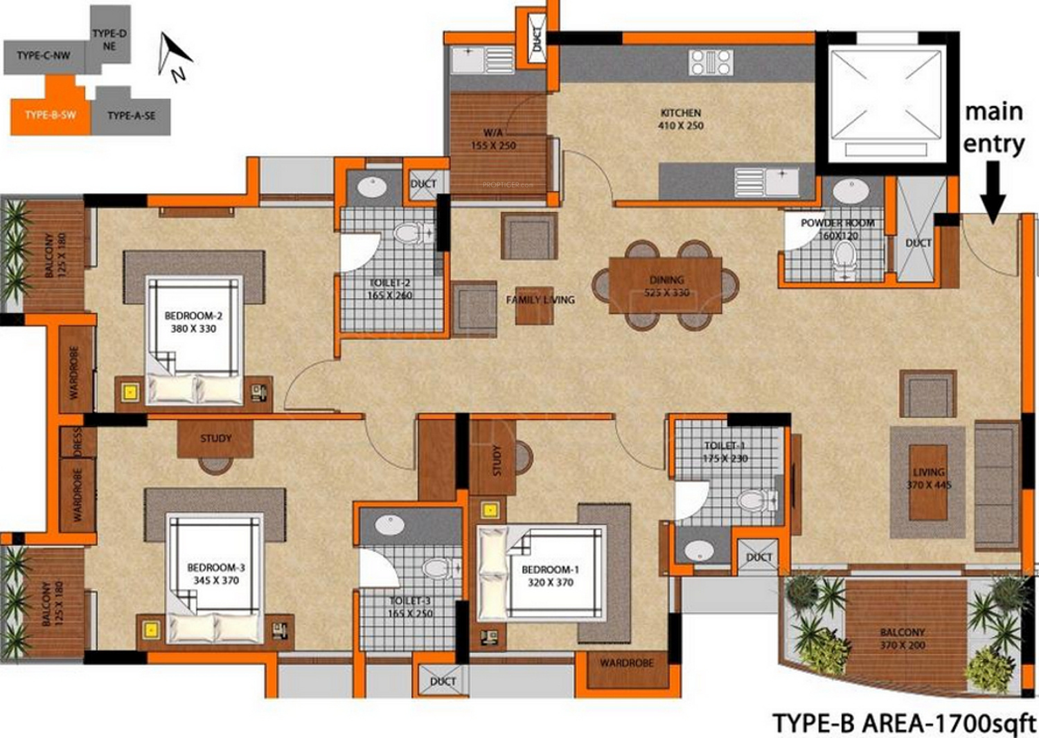 1700 sq ft 3 bhk 3t apartment for sale in classic homes for Classic homes floor plans